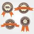 Set of quality  labels with retro vintage design