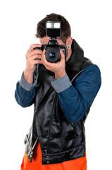 Portrait d'un jeune paparazzi