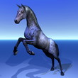 Beautiful horse rearing - 3D render