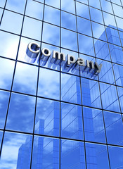 Big Blue Company Business Concept