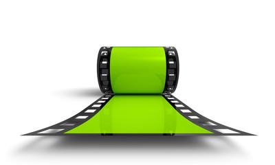 3D Filmrolle - Grün Frontal Ansicht