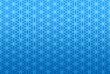 Endlos Textur Blau - Blume des Lebens