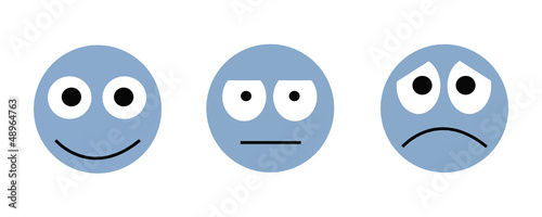 emoticons survey vote online vector