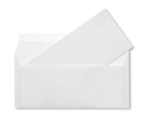 open white envelope