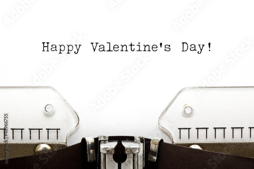 Typewriter Happy Valentines Day