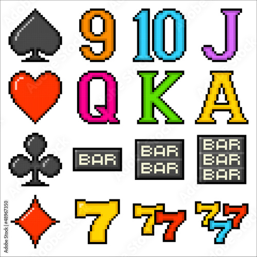 Pixel Slot Machine Symbols