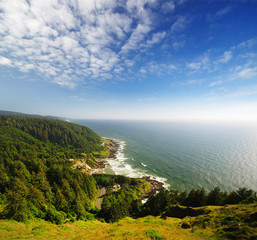 Oregon Coast view Near Newport
