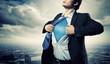 Young superhero businessman