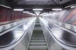 escalator in futuristic building
