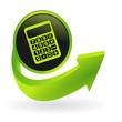 bouton calculatrice flêche verte
