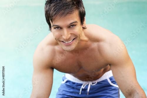 Man at pool