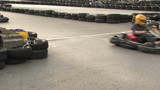 gokarts crossing start finish line