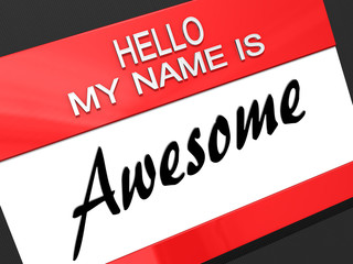 Hello My Name is Awesome.