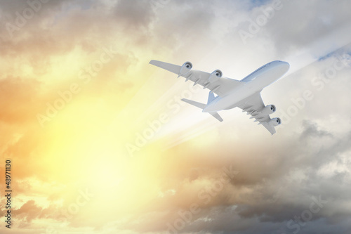 Image of airplane in sky