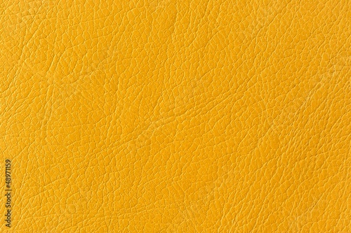 Yellow Artificial Leather Background Texture