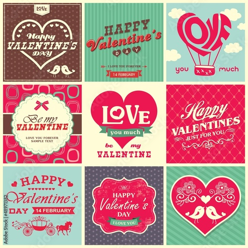 Valentine's day design elements collection