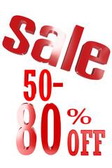 50-80 Percent Sale
