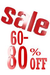 60-80 Percent Sale