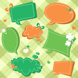 Lucky Saint Patrick's day sale stickers and tags for text
