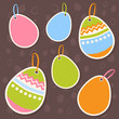 Easter colorful eggs discount sale stickers