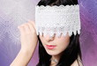 Young Woman Fashion Studio Blindfold Portrait