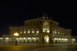 Semper Opera Of Dresden At Night