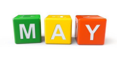 Cubes with May sign