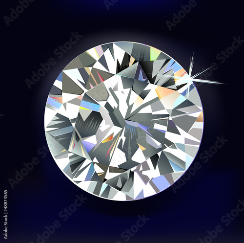 Diamond isolated on dark-blue background