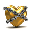 Chained golden heart