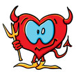 Cartoon devil heart