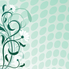 Abstract daisywheel flower vector background