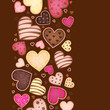 vertical background for text with sweetmeat in form heart