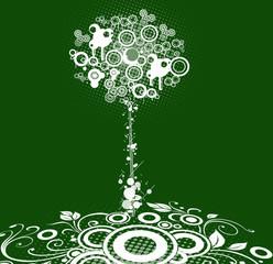 stylized swirl tree