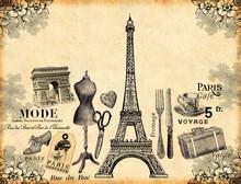 """Постер, картина, фотообои """"Paris Background"""""""