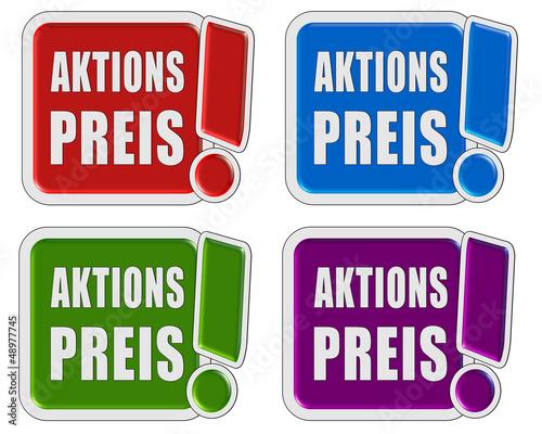 4 !-Schilder bunt AKTIONSPREIS