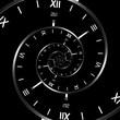 Leinwanddruck Bild Black Clock