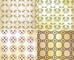 Seamless wallpaper set for design