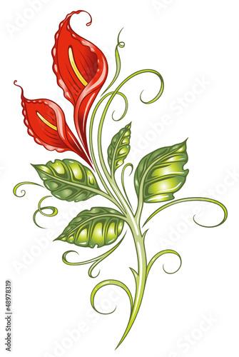 calla lilie lilly ranke flora blume bl te rot stockfotos und lizenzfreie vektoren auf. Black Bedroom Furniture Sets. Home Design Ideas