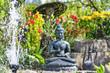 Gartenensemble mit Buddha-Figur