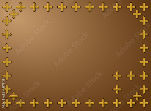 background framed with cross pattern