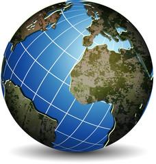 Rocky globe