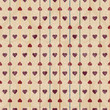 Seamless pattern with valentine hearts. Vintage background