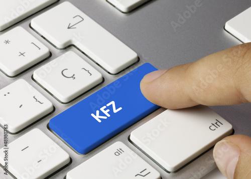 KFZ tastatur. Finger