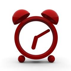 red stylized alarm