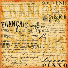 French Vintage background