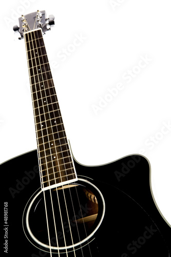 guitar on white
