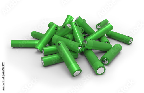 Heap of batteries