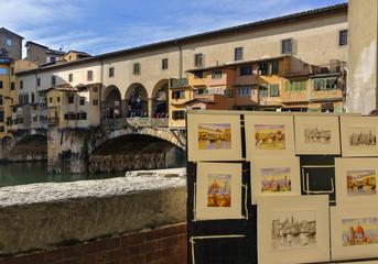 Illustrazioni Ponte Vecchio Firenze
