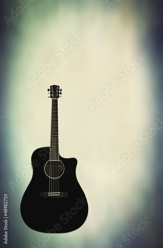 retro black guitar