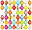 48 Easter Eggs Pattern